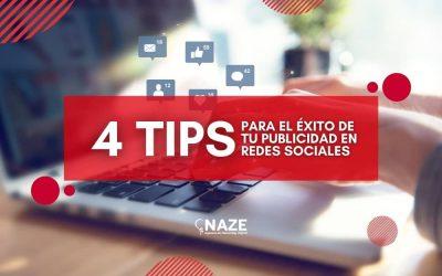 4 Tips para el éxito de tu publicidad en redes sociales